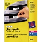 """Avery® Laser Label - Removable Adhesive - 1 3/4"""" Width x 1/2"""" Length - Rectangle - Laser - White - 800 / Pack"""