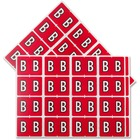 """Pendaflex Color Coded Label - """"Alphabet"""" - 1 1/4"""" Width x 15/16"""" Length - Rectangle - Red - 240 / Pack"""