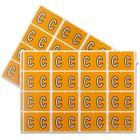 "Pendaflex Color Coded Label - ""Alphabet"" - 1 1/4"" Width x 15/16"" Length - Rectangle - Light Orange - 240 / Pack"