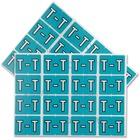 "Pendaflex color Coded Label - ""Alphabet"" - 1 1/4"" Width x 15/16"" Length - Rectangle - Light Blue - 240 / Pack"