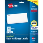 "Avery® Mailing Label - 1 3/4"" Width x 1/2"" Length - Rectangle - Inkjet - White - 2000 / Pack"