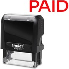 "Trodat Self Inking Stamp - Custom Message Stamp - ""PAID"" - Red - 1 Each"