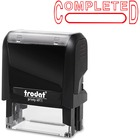 "Trodat Self Inking Stamp - Message/Date Stamp - ""COMPLETED"" - Red - 1 Each"