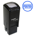 "Trodat Self Inking Stamp - Message Stamp - ""POSTED"" - Blue - 1 Each"