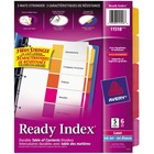 Avery® Ready Index Unprinted Tab - 5 Blank Tab(s) - Multicolor Tab(s) - 6 / Pack