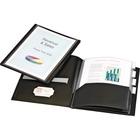 """Cardinal ReportPro 10 Pocket Project Organizer - Letter - 8 1/2"""" x 11"""" Sheet Size - 200 Sheet Capacity - 10 Inside Front & Back Pocket(s) - 4 Divider(s) - Polypropylene - Black - 1 Each"""
