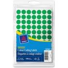 Avery® Coding Label - Removable Adhesive Length - Circle - Laser, Inkjet - Green - 770 / Box