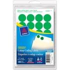 Avery® Coding Label - Removable Adhesive Length - Circle - Laser, Inkjet - Green - 480 / Box