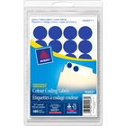Avery® Coding Label - Removable Adhesive Length - Circle - Laser, Inkjet - Light Blue - 480 / Box