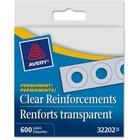 Avery® Hole Reinforcement Label Dispenser Pack - Ring Binder - Rectangular - Clear - Polyvinyl - 600 / Box