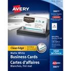 "Avery® 38871 Inkjet Business Card - 2"" x 3 1/2"" - Matte - 200 / Pack - White"