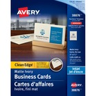 "Avery® Inkjet Print Business Card - 2"" x 3 1/2"" - 200 / Pack - Ivory"