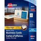 "Avery® Inkjet Business Card - 2"" x 3 1/2"" - 200 / Pack - Ivory"