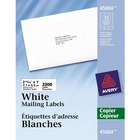 "Avery® Address Label - Permanent Adhesive - 2 13/16"" Width x 1"" Length - Rectangle - White - 3300 / Box"