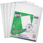 """Hilroy Figuring Pad - 72 Sheets - 8 3/8"""" x 10 7/8"""" - White Paper - Recycled - 5 / Pack"""