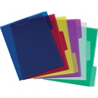 "Pendaflex Poly View Folder Assorted Color Pack - Letter - 8 1/2"" x 11"" Sheet Size - 1/3 Tab Cut - Poly - Blue, Magenta, Yellow, Purple, Lime, Ice - 6 / Pack"