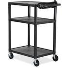 "Quartet Plastic A/V Cart - 3 x Shelf(ves) - 42"" (1066.80 mm) Height x 24"" (609.60 mm) Width x 18"" (457.20 mm) Depth - Plastic - Black"