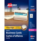 "Avery® Laser Print Business Card - 2"" x 3 1/2"" - 200 / Pack - Ivory"