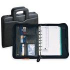 "Day-Timer Time Management Starter Sets - 8 1/2"" x 11"" Sheet Size - Zipper - Black - Trilingual, Bilingual - 1 Each"