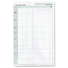 """Day-Timer 2 Months UnDated Calendar Pages - Julian Dates - Daily - 7:00 AM to 1:00 PM - 1 Day Double Page Layout - 5 1/2"""" x 8 1/2"""" Sheet Size - Appointment Schedule, Trilingual - 1 Pack"""