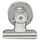 "Acco Magnetic Bulldog Clip - 1.50"" (38.10 mm) Width - 24 / Box - Silver - Metal"