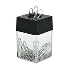 "Acco Paper Clip Dispenser - 2.81"" (71.37 mm) x 1.81"" (45.97 mm) x 1.81"" (45.97 mm) - 1 Each - Black"