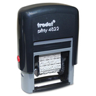 """Trodat Self-Inking Dial-A-Phrase Stamp - Message Stamp - """"CANCELLED, FAXED, DRAFT, APPROVED, URGENT, PLEASE, ORIGINAL, COPY, AIRMAIL, FIRST CLASS, CONFIDENTIAL, ...""""Plastic - 1 Each"""