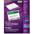Avery® 78619 Laser/Inkjet Badge Insert - 100 / Box