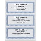"""First Base Regent Gift Certificate - 24 lb - 8.50"""" x 3.50"""" - Laser, Inkjet Compatible - Blue, Silver - 75 / Pack"""