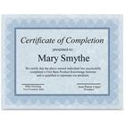 "First Base Regent Certificate - 24 lb - 8.50"" x 11"" - Blue, Silver - 100 / Pack"