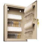 "MMF Uni-Key Single Tag Key Cabinet - 8"" x 2.6"" x 12.1"" - Sand - Steel - Recycled"