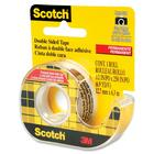 """3M Scotch Double-Sided Tape - 20.8 ft (6.4 m) Length x 0.50"""" (12.7 mm) Width - Dispenser Included - 1 Each - Clear"""
