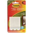 """3M Adhesives Hanging Strips - 2"""" (50.8 mm) Length x 0.75"""" (19.1 mm) Width - 3 / Pack - White"""