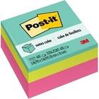 """3M Mini Bright Colors Memo Cube - 2"""" x 2"""" - Square - 1 Each"""