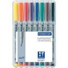 Lumocolor Universal Non-permanent Marker - Medium Marker Point - 1 mm Marker Point Size - Refillable - Assorted Water Based Ink - Polypropylene Barrel - 8 / Set