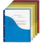 "Pendaflex 31820C Pocket Report Cover - Letter - 8 1/2"" x 11"" Sheet Size - 3 x Round Ring Fastener(s) - Polypropylene - Blueberry, Lemon, Lime, Strawberry - 5 / Pack"