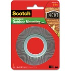 "3M Scotch Exterior Mounting Tape - 5 ft (1.5 m) Length x 1"" (25.4 mm) Width - 1 Each"