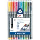 Staedtler Triplus Roller Pen - Assorted Ink - 1 Set
