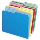 """Pendaflex Cutless Top Tab File Folder - Letter - 8 1/2"""" x 11"""" Sheet Size - 1/2 Tab Cut - Top Tab Location - Assorted - Recycled - 24 / Pack"""