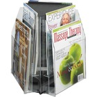 "Safco Reveal 2-tier Tabletop Magazine Display - 6 Pocket(s) - 6 Compartment(s) - Compartment Size 7.25"" (184.15 mm) x 9"" (228.60 mm) x 1"" (25.40 mm) - 14"" Height x 15"" Width x 15"" Depth - Desktop - Clear - Acrylic - 1 / Each"