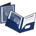 "Oxford Viewfolio Pocket Portfolio - Letter - 8 1/2"" x 11"" Sheet Size - 100 Sheet Capacity - 2 Pocket(s) - Blue - 1 Each"