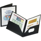 "Oxford Viewfolio Pocket Portfolio - Letter - 8 1/2"" x 11"" Sheet Size - 100 Sheet Capacity - 2 Pocket(s) - Black - 1 Each"