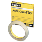 """Scotch 665-6M33 Double-Coated Transparency Tape - 36.1 yd (33 m) Length x 0.24"""" (6 mm) Width - 3"""" Core - Double-sided, Photo-safe - 1 Each"""
