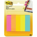 "Post-it® Page Marker Flag - 0.50"" x 2"" - Rectangle - Fluorescent - Removable - 1 / Pack"