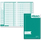 Dean & Fils Four Employees Payroll Book - Recycled - 1 Each