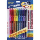 Staedtler Maxum 1.6mm Tip Ballpoint Pens - Thick, Bold Pen Point - 1.6 mm Pen Point Size - Assorted - Clear Rubber Barrel - 8 / Pack
