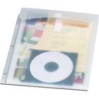 """Oxford Stash-It Binder Pocket - 250 x Sheet Capacity - For Letter 8 1/2"""" x 11"""" Sheet - Ring Binder - Rectangular - Ice White - Polypropylene - 1 Each"""