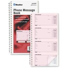 "Blueline Telephone Message Book - 100 Sheet(s) - Spiral Bound - 2 PartCarbonless Copy - 5 3/4"" x 10 3/4"" Sheet Size - White Sheet(s) - 1 Each"