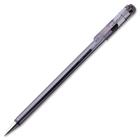 Pentel Superb Ballpoint Pen - Fine Pen Point - 0.3 mm Pen Point Size - Refillable - Black - Transparent Barrel - Metal Tip - 1 Each