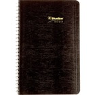 """Blueline Wirebound Daily Appointment Planner - Julian Dates - Daily - 1 Year - January 2021 till December 2021 - 7:00 AM to 7:30 PM - Half-hourly - 1 Day Single Page Layout - 5"""" x 8"""" Sheet Size - Wire Bound - Black - Appointment Schedule, Reference Calend"""